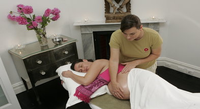 Pregnancy Massage with personalised, blended oils from Anahata Therapies,OmVeda or Subtle Energies Aromatherapy oils.