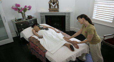 The Sacred hot Stones combo treatment at Anahata Therapies is blissful!